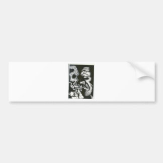 smoke skull bumper sticker