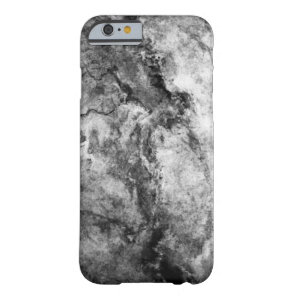 Smoke Streaked Black White marble stone finish Barely There iPhone 6 Case