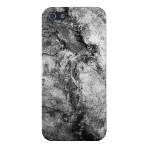 Smoke Streaked Black White marble stone finish Case For iPhone SE/5/5s