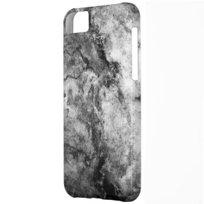 Smoke Streaked Black White marble stone finish Cover For iPhone 5C