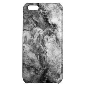Smoke Streaked Black White marble stone finish iPhone 5C Cover