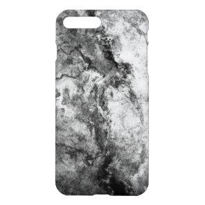 Smoke Streaked Black White marble stone finish iPhone 7 Plus Case