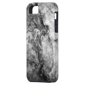 Smoke Streaked Black White marble stone finish iPhone SE/5/5s Case