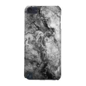 Smoke Streaked Black White marble stone finish iPod Touch 5G Cover