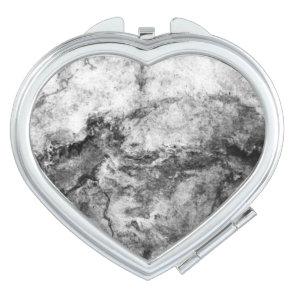 Smoke Streaked Black White marble stone finish Makeup Mirror