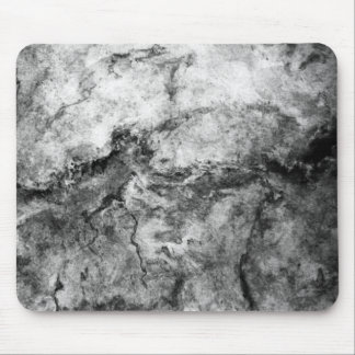 Smoke Streaked Black White marble stone finish Mouse Pad
