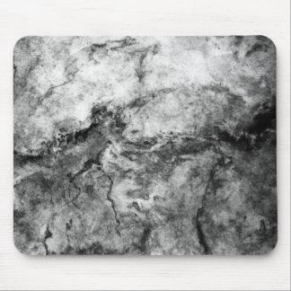 Smoke Streaked Black White marble stone finish Mouse Pad