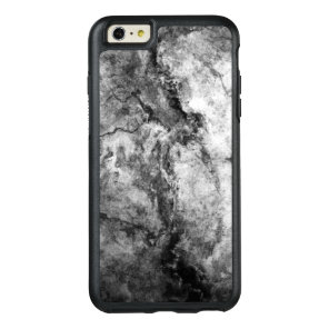 Smoke Streaked Black White marble stone finish OtterBox iPhone 6/6s Plus Case