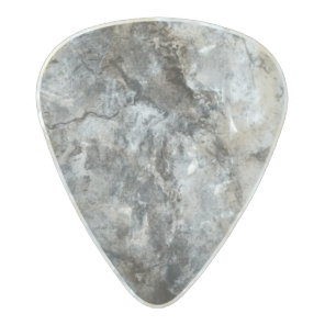 Smoke Streaked Black White marble stone finish Pearl Celluloid Guitar Pick