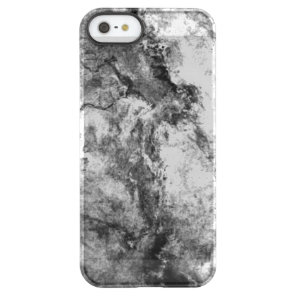 Smoke Streaked Black White marble stone finish Permafrost iPhone SE/5/5s Case