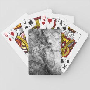 Smoke Streaked Black White marble stone finish Playing Cards