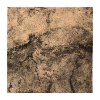 Smoke Streaked Black White marble stone finish Drink Coasters