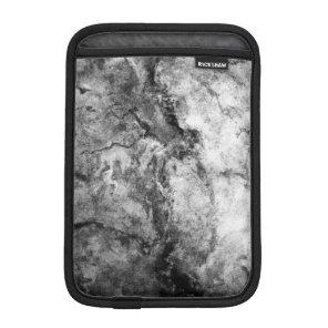 Smoke Streaked Black White marble stone finish Sleeve For iPad Mini
