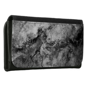 Smoke Streaked Black White marble stone finish Wallets