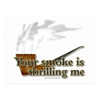 Smoke Thrills Postcard