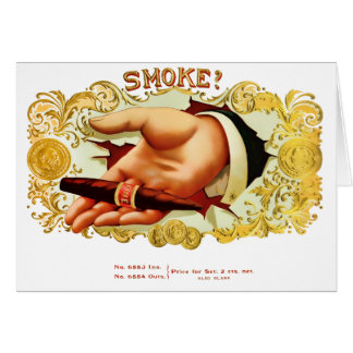Smoke? Vintage Cigar Label Card
