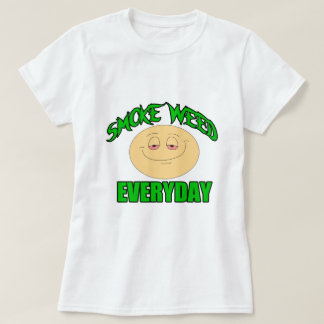 Smoke weed every day funny high smiley T-Shirt