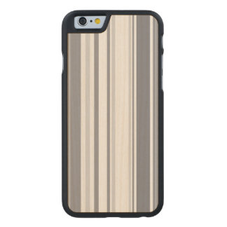 Smoked Pearl Stripes Varied Geometric Pattern Carved Maple iPhone 6 Slim Case