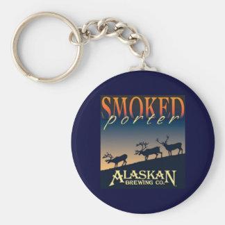 Smoked Porter Basic Round Button Keychain