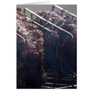 Smoked Ribs On Grill Card