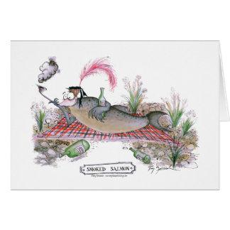 Smoked Salmon fish, tony fernandes Greeting Card