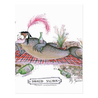 Smoked Salmon fish, tony fernandes Postcard