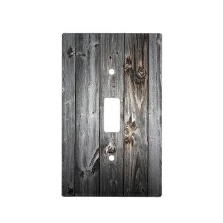 Smoked Wood Pattern Light Switch Cover