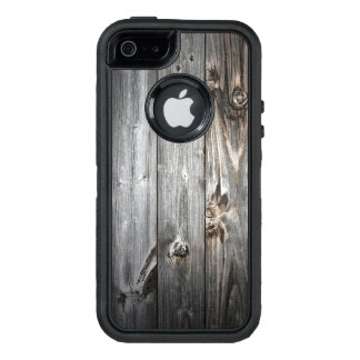 Smoked Wood Pattern OtterBox Defender iPhone Case