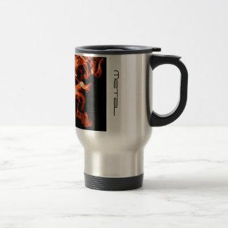 Smoken Metal red flames travel mug