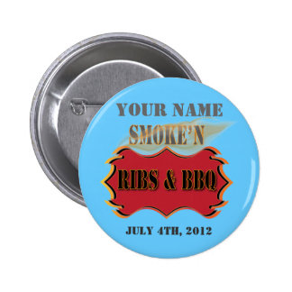 smoke'n ribs and bbq 2 inch round button