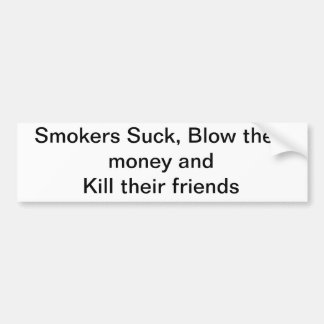 Smokers and their related issues car bumper sticker