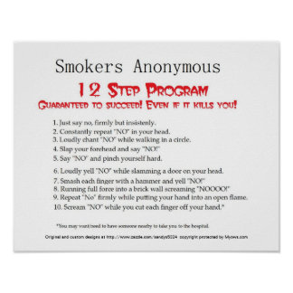 Smokers Anonymous Poster
