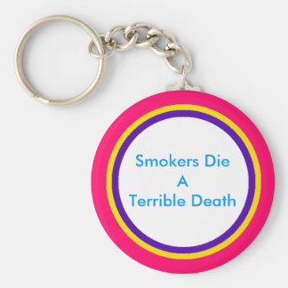 Smokers Die A Terrible Death Key Chain