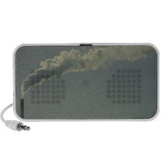 Smokestack from factory notebook speaker
