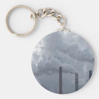 smokestacks basic round button keychain