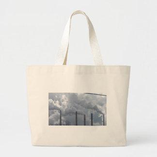 smokestacks large tote bag
