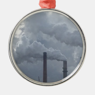 smokestacks metal ornament