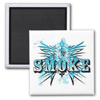 SmokeTeal (imán) Imán Cuadrado