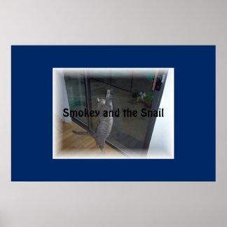 smokey and the snail print