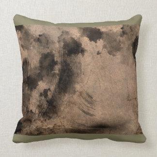 Smokey Art Design Throw Pillow