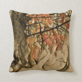 Smokey Autumn Throw Pillow