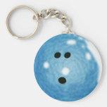 Smokey Blue Bowling Ball Keychain