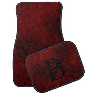 Smokey Burgundy Red Monogrammed Car Mat