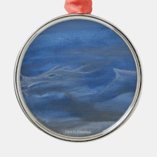 Smokey Dragon Metal Ornament