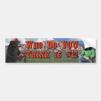 Smokey el oso contra Billy el niño: ¿Quién USTED a Pegatina Para Auto