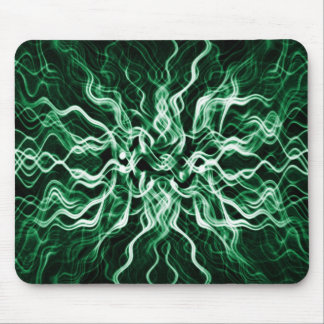 Smokey electrfying Ocean blue abstract Mouse Pad