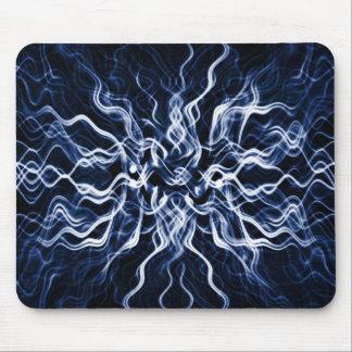 Smokey electrfying Ocean blue abstract Mousepad