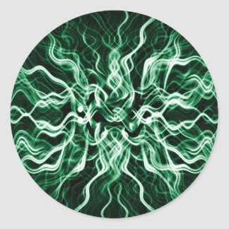 Smokey Forest Emerald dust Abstract Classic Round Sticker
