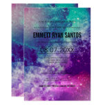 Smokey Galaxy Graduation Party Invite at Zazzle