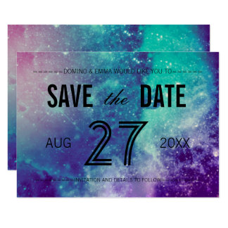 Smokey Galaxy Save the Date Cards
